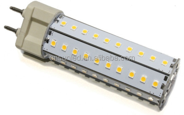 high quality 70SMD2835 Input 85-265V 1000Lumens 10W g12 base led lamp