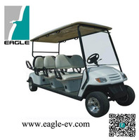 eight seats electric golf cart including two rear fixed facing seats(6+2),CE, USA LSV approved