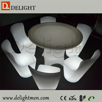 Alibaba hot sale outdoor ip65 glowing 16 color wireless control 8 seater led dining table