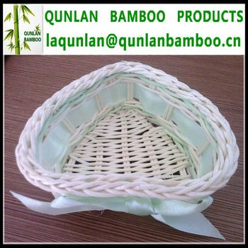 High quality heart shape bamboo fruit baskets for sale