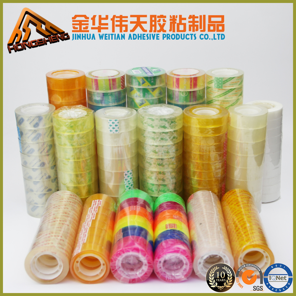 good quality Office Stationery Tape /Bopp Clear Adhesive/stationery tape