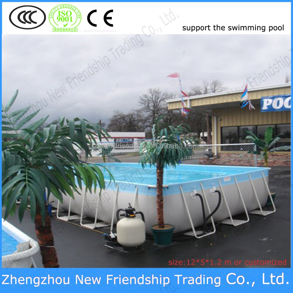 China pvc tarps fabric Support swimming pool/Flexible frame cheap swimming pool