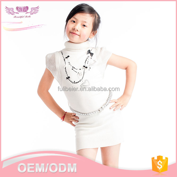 New style China supply kid clothes cheap hand work baby girls summer dresses, birthday dress for girl of 7 years old