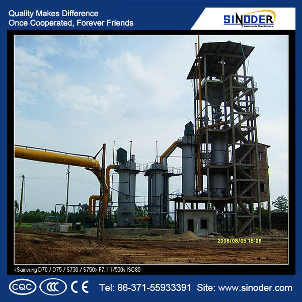 double stage cold coal gasifier plant uses air and vapor as the gasifying agents to produce mixed gas.