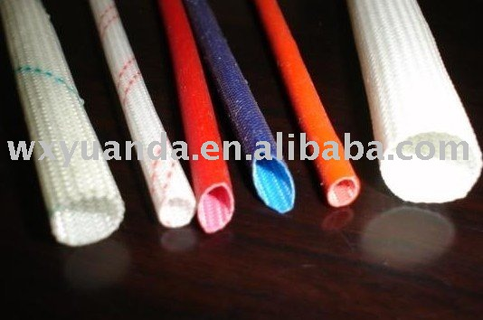 electric wire protection tube FSG silicone braided sleeving