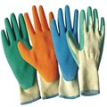 MHR finger protection latex coated cotton work glove
