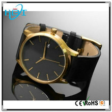 Newest big dial brushed plated vogue unsex custom logo watches promotional logo
