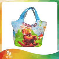 Travel Wholesale Cotton Canvas Children Foldable Lunch Tote Bag