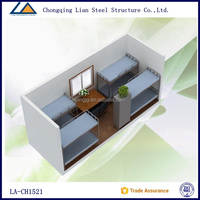 Container homes 20ft light steel house prefabricated for dormitory