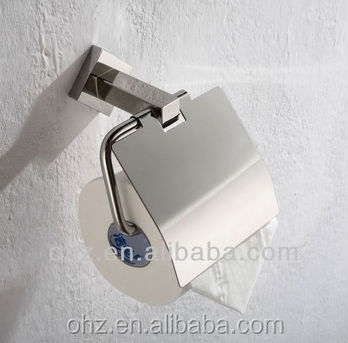 functional stainless steel bathroom paper cup holder