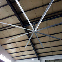 24ft Hvls Fans Airmoving Equipment Large Industrial Ceiling Fan Used For Warehouse