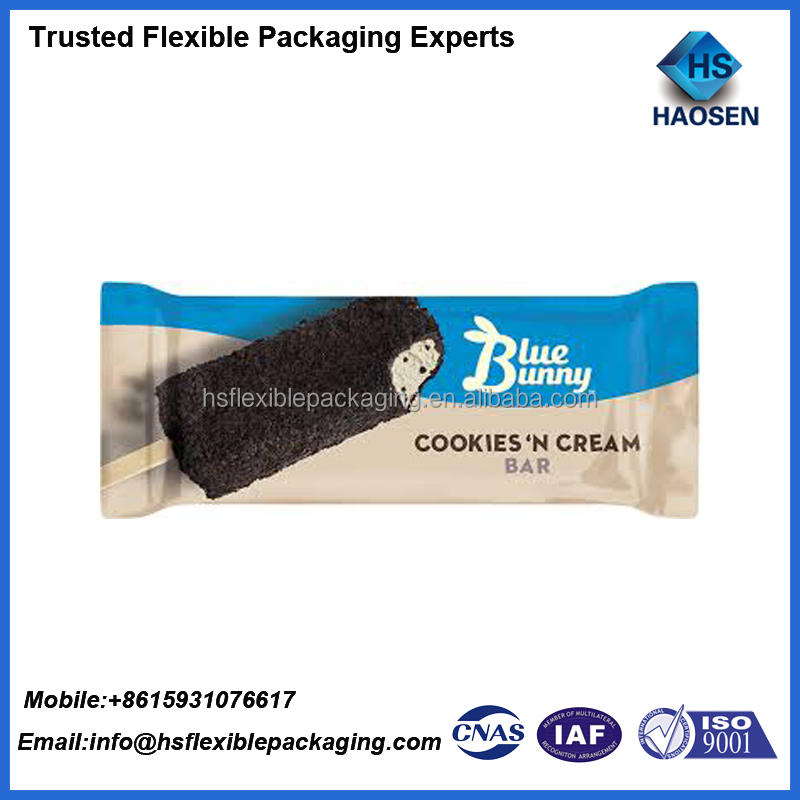 Eco-friendly color printed popscile packaging bag custom printed popsicle wrappers
