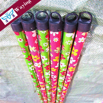Factory sale wooden broom handle, wooden mop handle with PVC coated