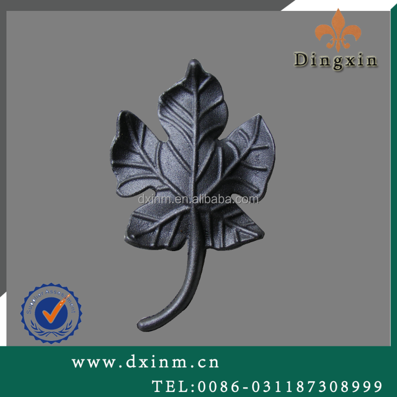 The beautiful metal leaves cast steel used for wrought iron windows protection and window security bars for sale