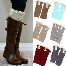 6 color assorted New women knit boot cuffs fashion style button leg warmers crochet boot socks toppers