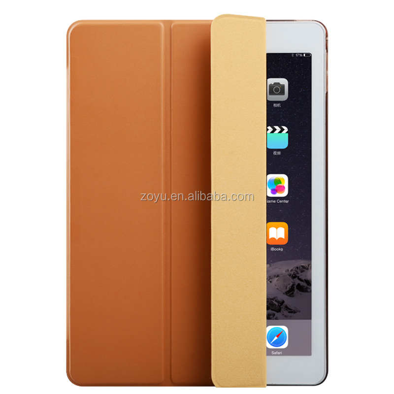 Magnetic Leather Smart tpu back cover case for iPad pro