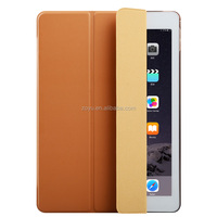 Magnetic Leather Smart tpu hybrid kickstand back cover case for iPad pro.