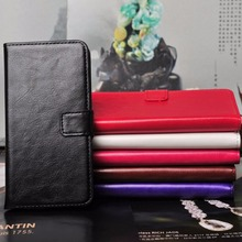 wallet leather case For HTC ONE M7, Soft TPU Wallet Leather case with stand function mix colors wholesale