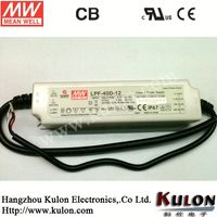 Meanwell 40w 24v dc input Led Driver with PFC LPF-40-24
