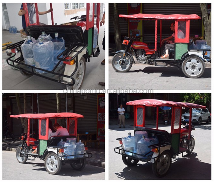 One Year Quality Garanteed 2 Passengers 200cc Porter Gasoline Three Wheel Tricycle