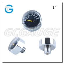 High Quality 1 inch chromed air pressure mini gauges