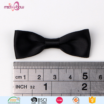 Wholesale 5cm Mini Black Satin Ribbon Bow Tie