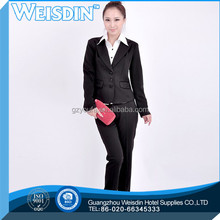 manufacter polyester/rayon wine color suit