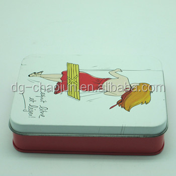 decorative new design china green tea tin box with ISO certified