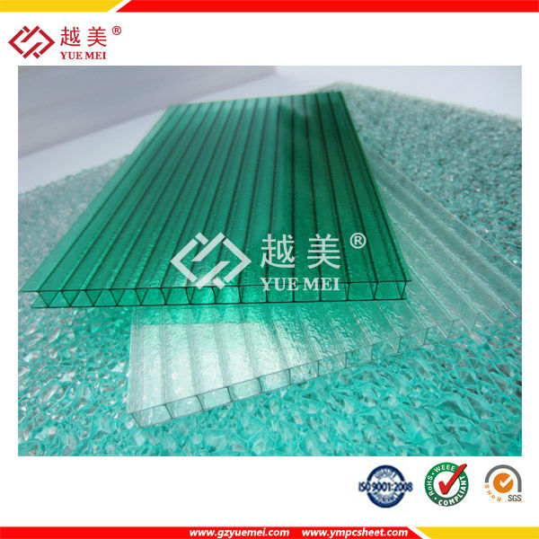 50micron UV coated building material poly carbonate sheet, polycarbonate hollow sheet, pc hollow sheet for roofing,gates, window