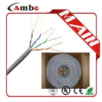 low price and nice quality 24awg Solid Bare copper 0.5mm lan cable cat5e cat5 cable color code