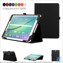 Back stand PU leather cases cover for SAMSUNG Galaxy TAB S2 9.7inch SM-T810/815
