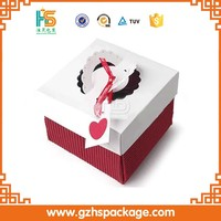 Design Art Paper Cupcake Box With Clear Window,wedding cake boxes