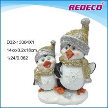 Christmas ornament resin penguin figure