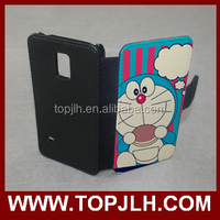 Leather flip case for Samsung S5 mini sublimation PU meterial