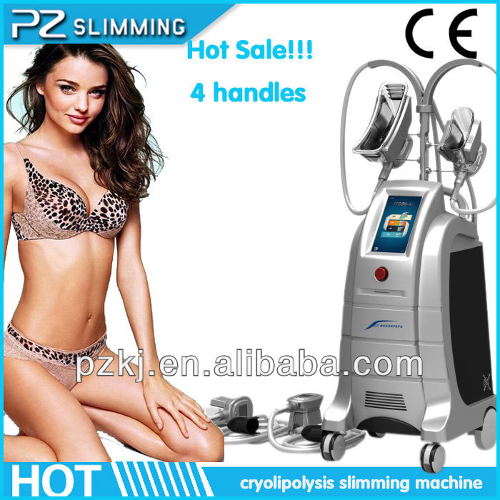 2016 effective 4 handpieces professional cryotherapy fat reduce system / lipo suction
