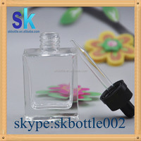 e liquid containers 30ml rectangular glass bottle perfume glass bottle in stock
