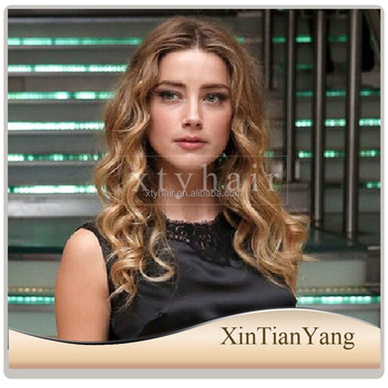 Alibaba Express 7A grade natural unprocessed remy virgin human hair wig, full lace /front lace wig with ombre color in Qingdao