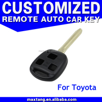 3 Button Remote Key Fob Case Shell Fit For Toyota Yaris Hiace Corolla Avensis Camry Uncut Blade