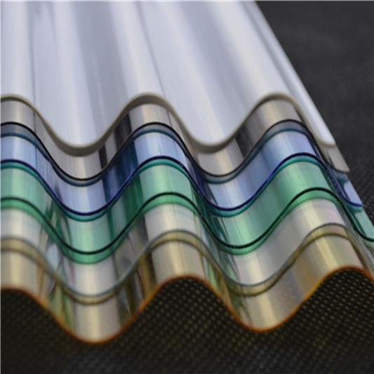 10-year warranty free sample 100% bayer carport polycarbonate corrugated sheet