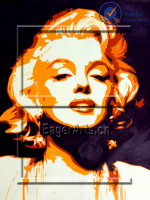 Wholesale High Quality Modern Handmade Canvas Pop Art Beautiful Marilyn Monroe Oil Painting