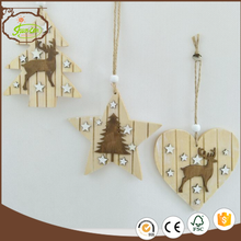 Wholesaler Christmas wooden decoration hanging decorative ornaments