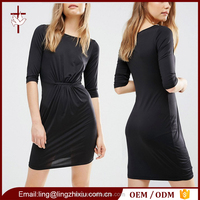 Boutique clothing china western style casual ladies design office dresses