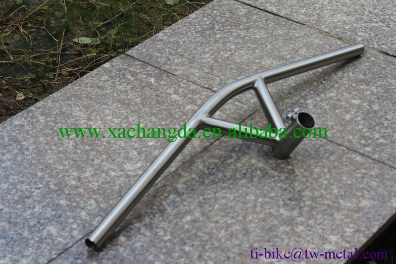 XACD made titanium handle bar and stem Chinese Ti bike bars and stem high quality Titanium integrated bar and stem