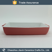 Good quality heat resistant durable ceramic oven baking tray