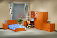 Durable MDF wood single bed designs, Bedroom wooden bed