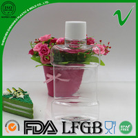 custom clear wholesale high quality pet mouthwash bottle with screw cap