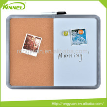 Aluminum frame cork and magnetic dry erase surface combo boards