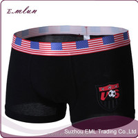men new design national flag printed seamless cotton/modal underwear/men boxer shorts