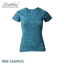 High quality blank custom workout clothes women t-shirt as yoga wear