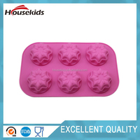 6-flower Fondant Cake Mold Soap Silicone Mould Tray For Candy Chocolate Pudding